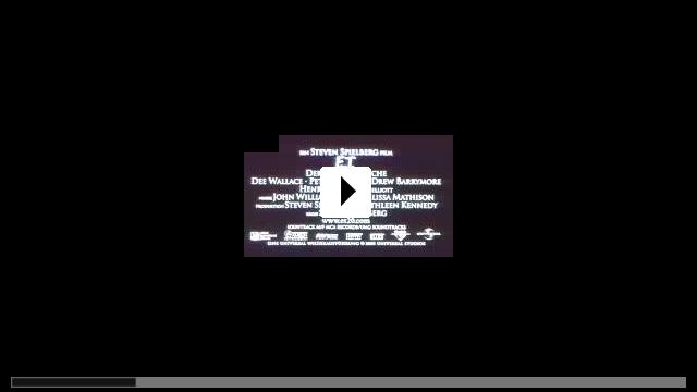 Zum Video: E.T. - Der Au�erdirdische